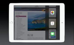 iOS 9 affiancamento applicazioni