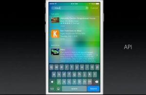 iOS 9 integrazione con app terze